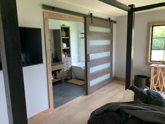 5 glass panel door