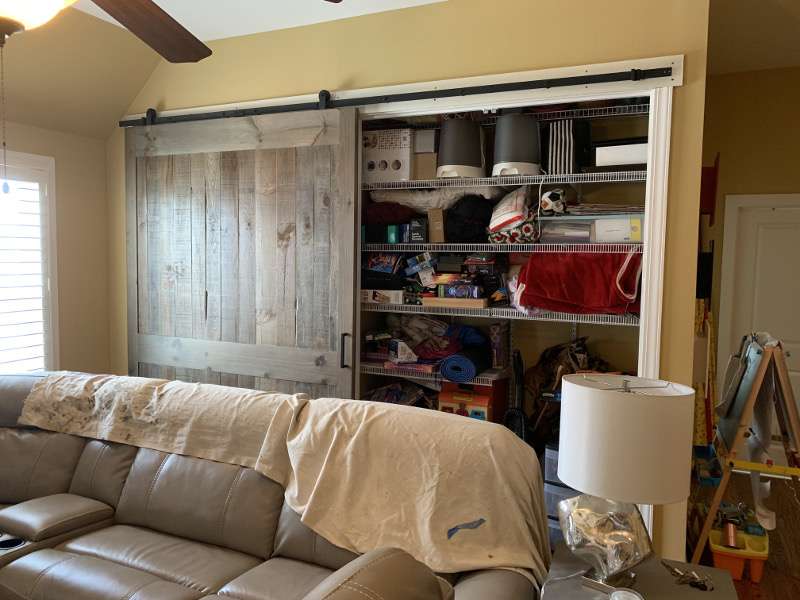 wide semi rustic door