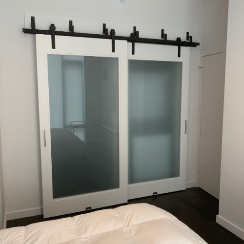 bypass glass door